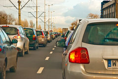 Traffic jam in rushhour Royalty Free Stock Image