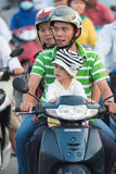 Traffic jam in Saigon Stock Photos