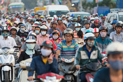 Traffic jam in Saigon Royalty Free Stock Photo