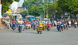 Traffic jam in Saigon, Vietnam. Stock Photography