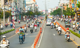 Traffic jam in Saigon, Vietnam. Stock Image