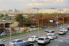 Traffic jam in Seoul Stock Photos