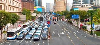 Traffic jam in Shanghai Stock Photos
