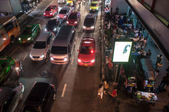 Traffic jam on Siam square Royalty Free Stock Photography