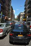 Traffic jam on street in NYC Stock Photos