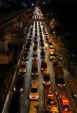 Traffic jam on the streets of Bangkok Stock Photography