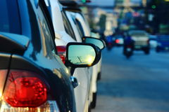 Traffic jam on the streets Royalty Free Stock Image