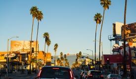 Traffic jam in Sunset boulevard Royalty Free Stock Photos