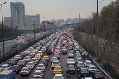 Traffic jam in Tehran Stock Photography
