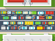 Traffic Jam Top View Poster Royalty Free Stock Images