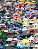 Traffic jam toy cars royalty free stock image