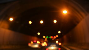 Traffic jam in a tunnel stock footage