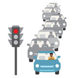 Traffic jam. Vector illustration of traffic jam Vector Illustration