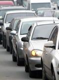 Traffic jam. vertical Stock Image