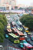 Traffic jam in Xi'an, China Royalty Free Stock Images