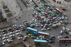 Traffic jam in Xi an, China Stock Photography