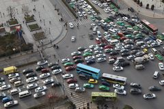 Traffic jam in Xi an, China Stock Photos