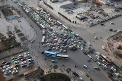 Traffic jam in Xi an, China Royalty Free Stock Photos