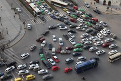 Traffic jam in Xi an, China Stock Image