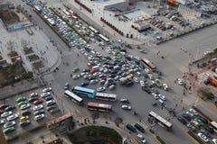 Traffic jam in Xi an, China Stock Photos