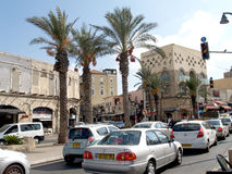 Traffic jam in Yaffo, Israel Stock Photography