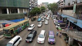 Traffic jam in Yangon, Myanmar. Stock Photography