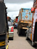 Traffic Jammed India. A highway jammed with traffic in India Royalty Free Stock Photography