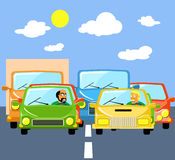 Traffic jams Royalty Free Stock Photo