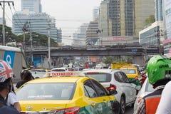 Traffic jams in Bangkok. Stock Photos