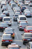 Daily traffic jams in Beijing Royalty Free Stock Photo