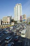 Traffic jams in China Stock Photo