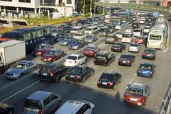 Traffic jams in China Stock Photography