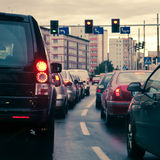 Traffic jams in the city Royalty Free Stock Photography