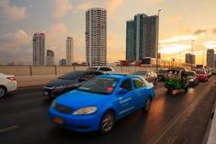 Traffic jams in the city bangkok thailand Royalty Free Stock Images