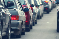 Traffic jams in the city Stock Image