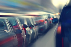 Traffic jams in the city, road, rush Royalty Free Stock Photos