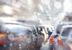 Traffic jams in the city, road, rush hour Stock Photo