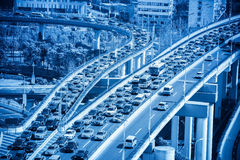 Traffic jams closeup Stock Photography