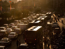 Traffic jams at evening Stock Image