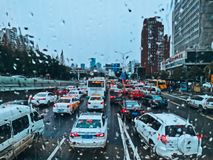 Free Traffic Jams  In Wuhan City Stock Photography - 167466592