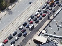 Traffic jams in Moscow Stock Image