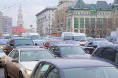 Traffic jams Royalty Free Stock Image