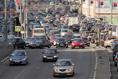 Traffic jams at rush hour. Royalty Free Stock Images