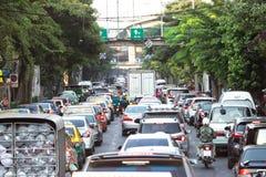 Traffic jams at rush hour. Stock Photo