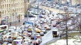 Traffic jams at rush hour stock footage