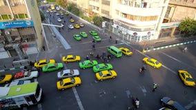 Traffic jams in Tehran, Iran stock video