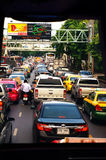 Traffic jams Stock Images