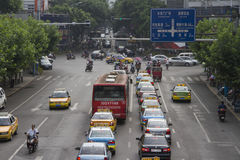 Traffic jams Stock Image