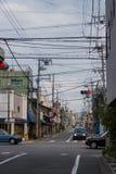 Traffic on japanese city street Stock Image