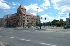 Traffic on Junction in Poznan, Poland Royalty Free Stock Photo